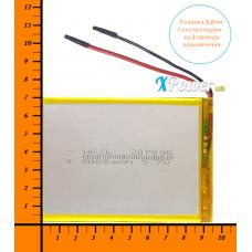 Аккумулятор для планшета 3000mAh 3.7V 3.2x70x95mm 2 провода подключения