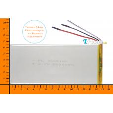 Аккумулятор для планшета 5500mAh 3.7V 3.6x65x150mm 3 провода подключения