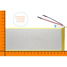 Аккумулятор для планшета 6000mAh 3.7V 3.5x70x180mm 2 провода подключения
