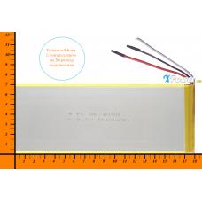 Аккумулятор для планшета 6000mAh 3.7V 3.5x70x180mm 3 провода подключения