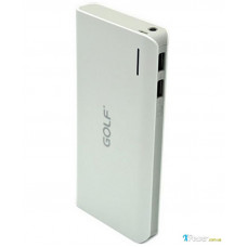 Внешний аккумулятор [GOLF] Power Bank GF-200 20000 mAh, white+gray