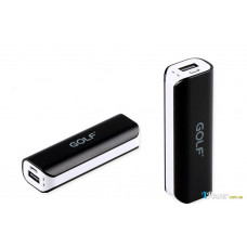 Внешний аккумулятор [GOLF] Power Bank GF-801 2600 mAh, black+white