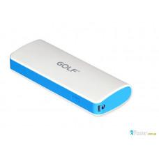Внешний аккумулятор [GOLF] Power Bank GF-027 10000 mAh, white+blue