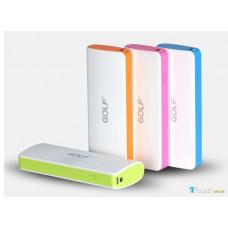 Внешний аккумулятор [GOLF] Power Bank GF-027 10000 mAh, white+orange