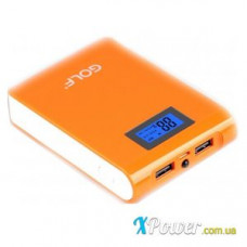 Внешний аккумулятор [GOLF] Power Bank GF-LCD01 10400 mAh, orange