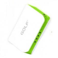 Внешний аккумулятор [GOLF] Power Bank GF-206 5200 mAh, white+green