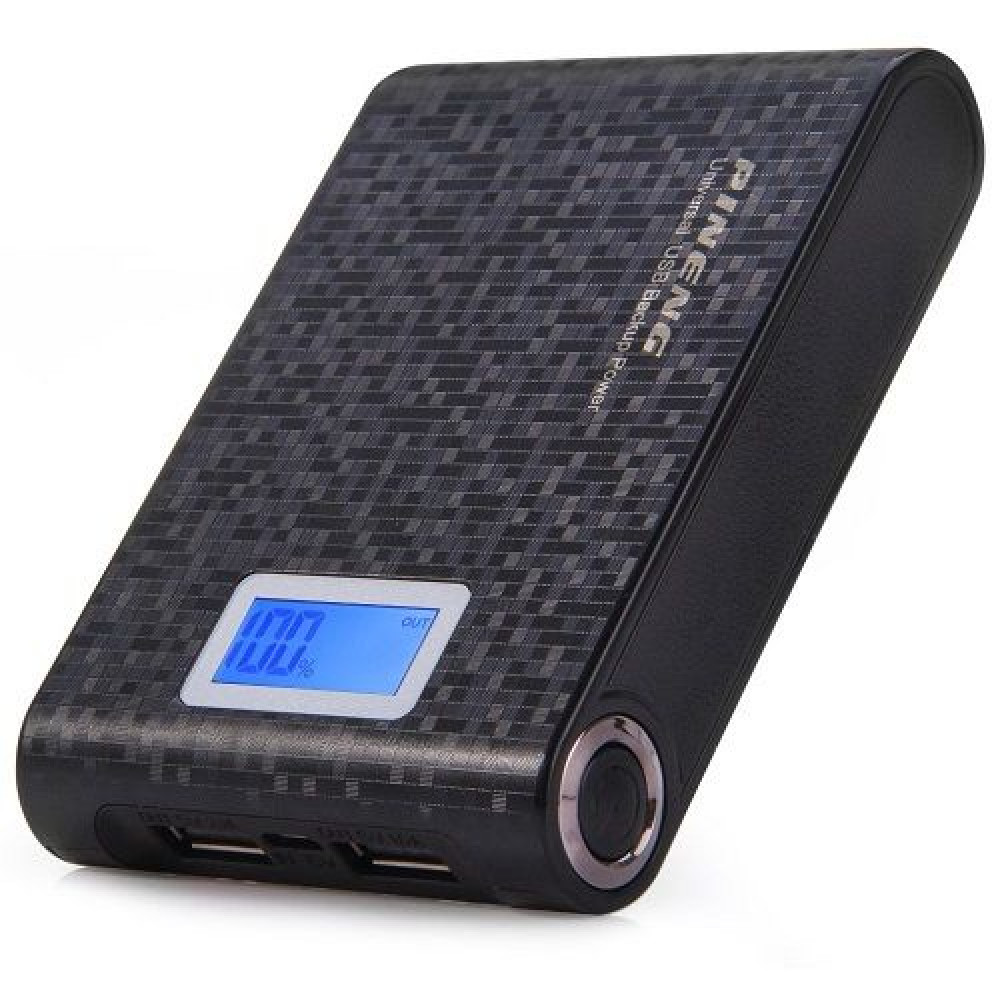 Внешний аккумулятор [Pineng] Power Bank 10000 mAh PN-913, black