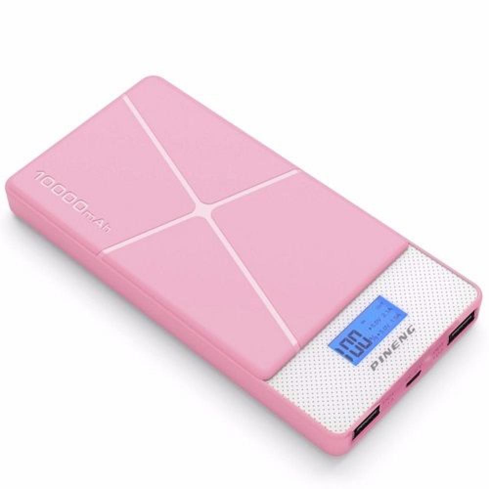 Внешний аккумулятор [Pineng] Power Bank 10000 mAh PN-983s, pink