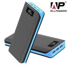 Внешний аккумулятор [Allpowers] Power Bank 20000 mAh, blue