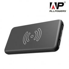 Внешний аккумулятор [Allpowers] Power Bank 8000 mAh Qi Wireless